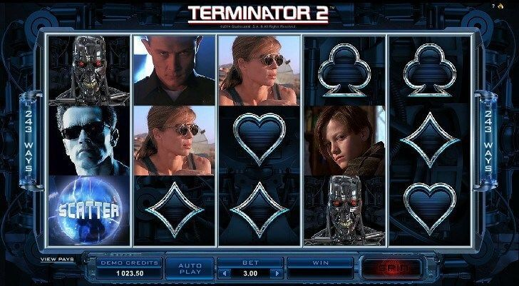 Terminator 2 Movie the Basis for this Slots Game
